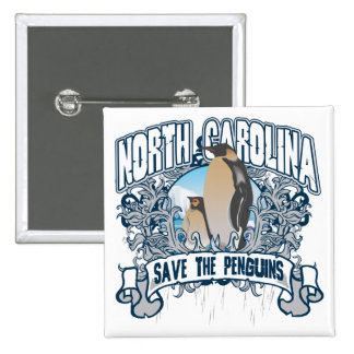Penguin North Carolina Button