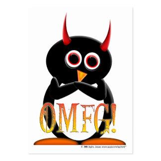Penguin OMG Profile Cards - Black Back Large Business Cards (Pack Of 100)