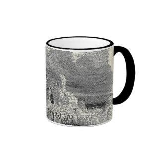 Penguin on Arctic Vintage Art Ringer Coffee Mug