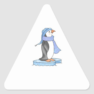 PENGUIN ON ICE TRIANGLE STICKER