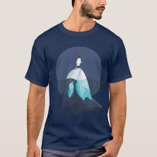 Penguin on Iceberg formed as Orcha T-Shirt