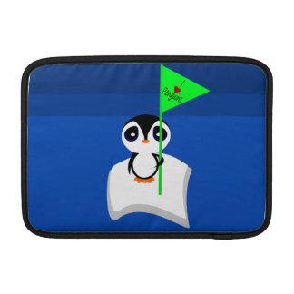 Penguin On Iceberg Holding I Heart Penguins Sign Sleeve For MacBook Air