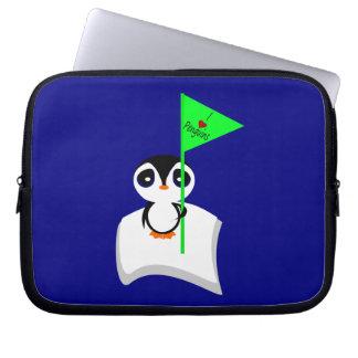 Penguin On Iceberg Holding I Heart Penguins Sign Laptop Sleeves