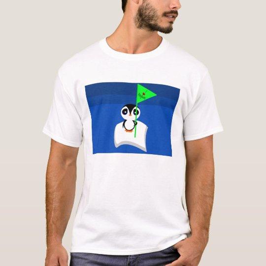 Penguin On Iceberg Holding I Heart Penguins Sign T-Shirt