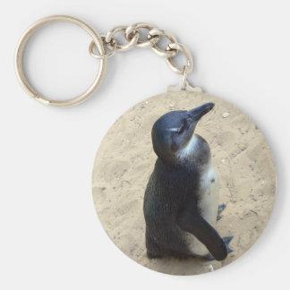 Penguin on sand keychain