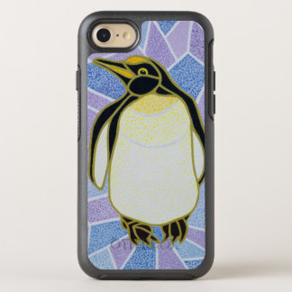 Penguin on Stained Glass OtterBox Symmetry iPhone 7 Case