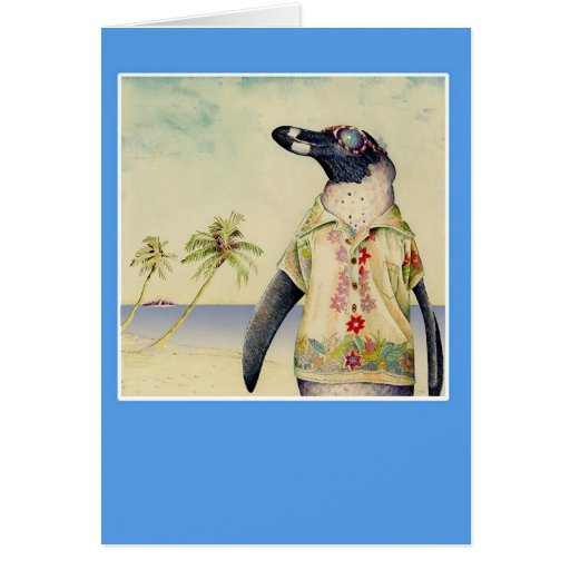 Penguin on Vacation Card