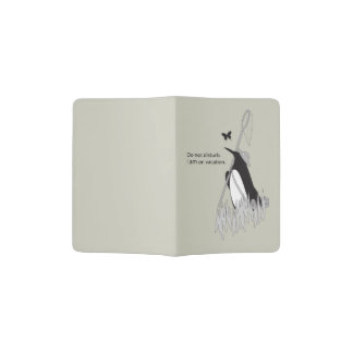 Penguin on Vacation Funny and Chic Passport Holder