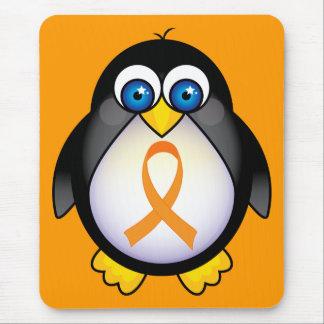 Penguin Orange Ribbon Of Awareness Gift Mouse Pad