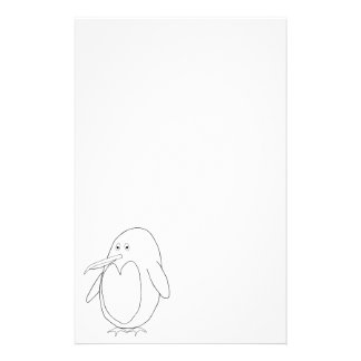 Penguin Outline Stationery