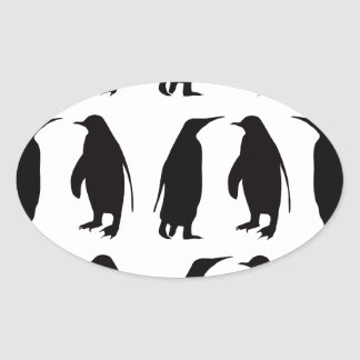 Penguin Oval Sticker