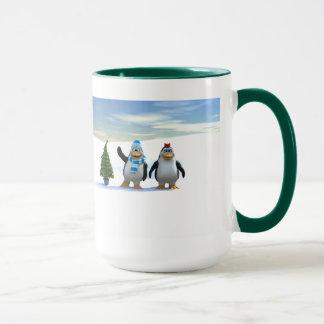 Penguin Pair with Tree Mug