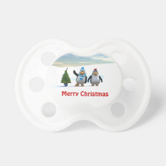 Penguin Pair with Tree Pacifier