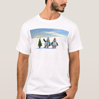Penguin Pair with Tree T-Shirt