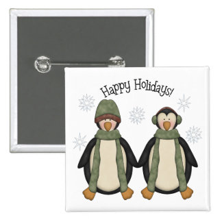 Penguin Pals · Happy Holidays Pinback Button