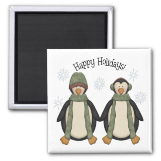 Penguin Pals · Happy Holidays Magnet