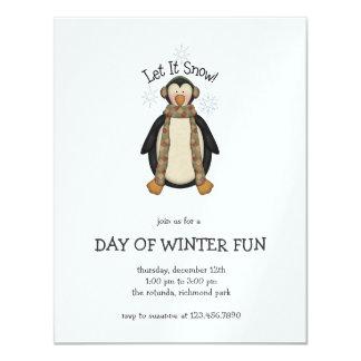Penguin Pals · Let It Snow Card