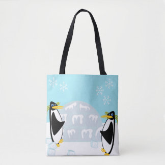 Penguin Pals on Ice Tote Bag