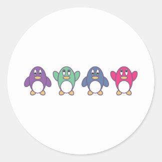 Penguin Parade Classic Round Sticker
