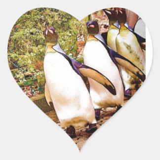 Penguin Parade Heart Sticker