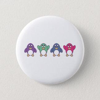 Penguin Parade Pinback Button