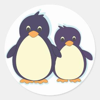 Penguin Paradise Classic Round Sticker