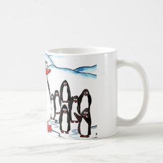 Penguin Paradise Classic White Coffee Mug