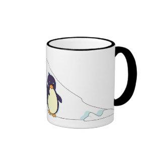 Penguin Paradise Ringer Mug