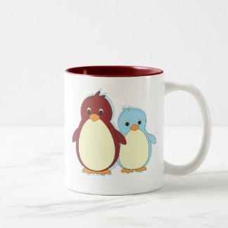 Penguin Paradise Two-Tone Coffee Mug