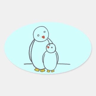 Penguin Parent Love Stickers
