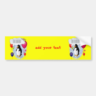 Penguin Party Animal Car Bumper Sticker
