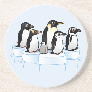 Penguin Party Beverage Coasters