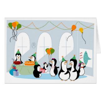 Penguin Party Birthday Card