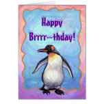 Penguin Party Center Greeting Card
