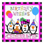 Penguin Party Customized Birthday Invitations