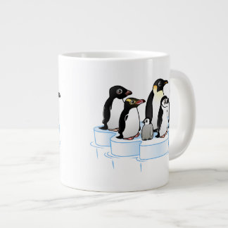 Penguin Party Giant Coffee Mug