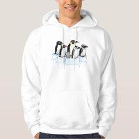 Penguin Party Men's Basic Hooded Sweatshirt