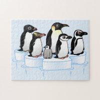 Penguin Party 10x14 Photo Puzzle