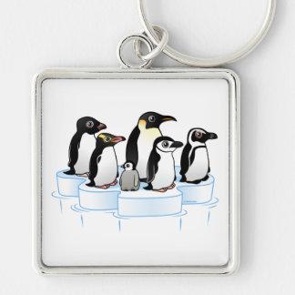 Penguin Party Key Chain
