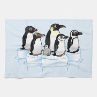 Penguin Party Kitchen Towel 16