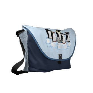 Penguin Party Messenger Bag