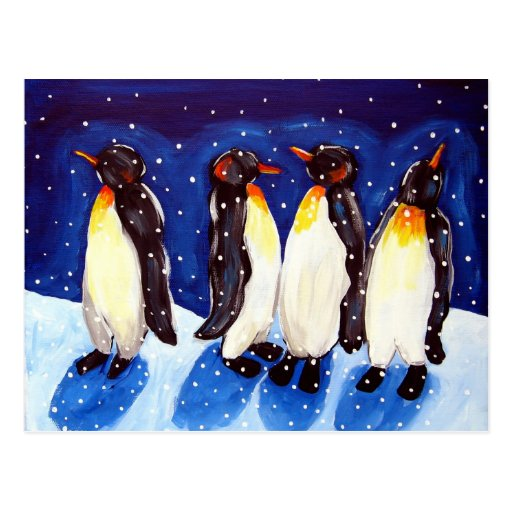Penguin Party Post Card
