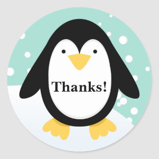 Penguin Party Thank You Stickers
