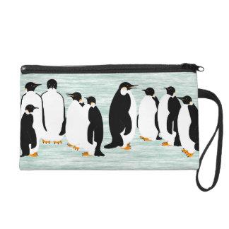 Penguin Party Wristlet Purse