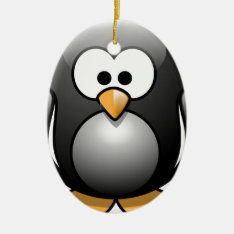 Penguin/penguin Ceramic Ornament at Zazzle