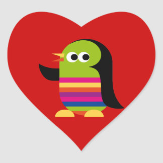 Penguin Penguins Bird Antarctica Cute Cartoon Heart Sticker