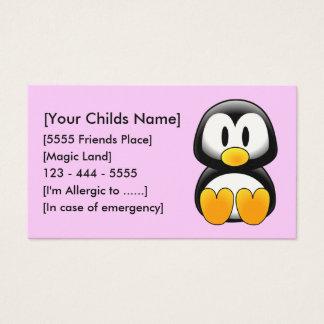 Penguin Pink - Customized Business Card