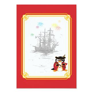 Penguin Pirate Invitation