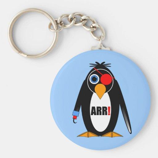penguin pirate keychain
