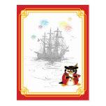 Penguin Pirate Postcard